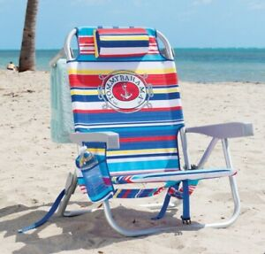 Pleasing Details About 2019 Tommy Bahama Folding Backpack Beach Chair 5 Positions Adjustable Pillow Short Links Chair Design For Home Short Linksinfo