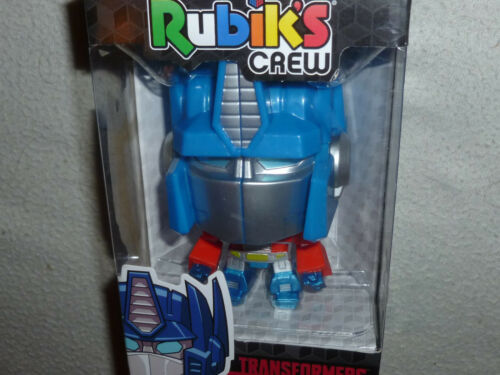 NEW IN BOX RUBIKS CREW OPTIMUS PRIME TRANSFORMERS G1 AUTOBOT HASBRO GAMING NIB />