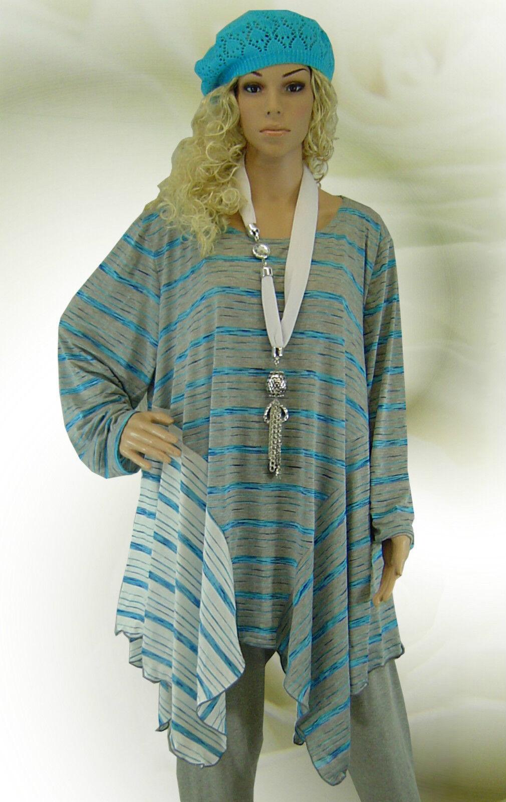 Poco design Lagenlook finemente lavorato a maglia tunica Long-shirt Long-shirt Long-shirt strisce ❸ FB L-XL-XXL-XXXL 432ce6