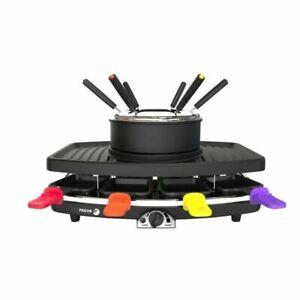 FAGOR FG816 Appareil combiné 3 en 1 raclette + fondue + grill - 1100W - capacité