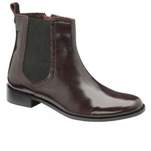 Ladies-Ravel-Loxley-Ox-Blood-Red-Leather-Dealer-Chelsea-Ankle-Boots-UK-6