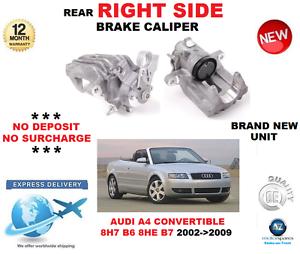 Für Audi  A4 Hintere Bremssattel- Rechte Seite Cabrio 8h7 B6 8he B7 2002-2009 Neu  is discounted
