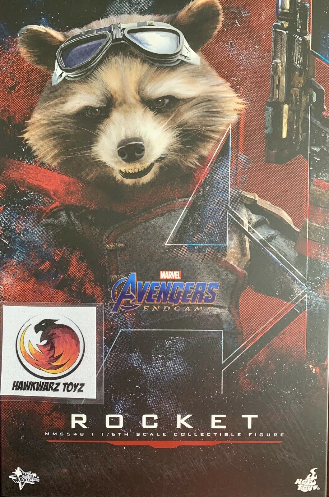 Hot Toys Marvel Avengers End Game Rocket Raccoon MMS548 1/6 Sideshow Disney on eBay thumbnail