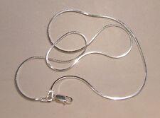 925-er ECHT SILBER Schlangenkette vierkant Diamantiert 60cm Sterlingsilber EDEL