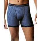 Hanes 7347Z5 Mens 5-pack Sports Inspired Stripe Ringer Boxer Brief Large Assorted