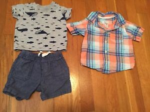 788eb38dc484 EUC Baby Boys Carters Summer Spring Shirt   Shorts Outfit Size 6 ...