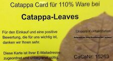 110% Catappa-Leaves / Seemandelbaumblätter mit der neuen CaCa (Bonuskarte)