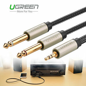ugreen jack to 1 4 male stereo splitter cable lead audio aux cord 691201472620 ebay. Black Bedroom Furniture Sets. Home Design Ideas