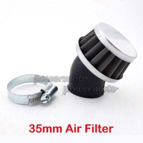 35mm Angled Air Filter Cleaner For 50cc 70cc 90cc 110cc Pit Dirt Bike ATV Quad