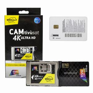 Tivusat-Modul-4K-Karte-Aktiviert-Ultra-HD-Smartcard-CAM-Tivusat-RAI-4K-NEU