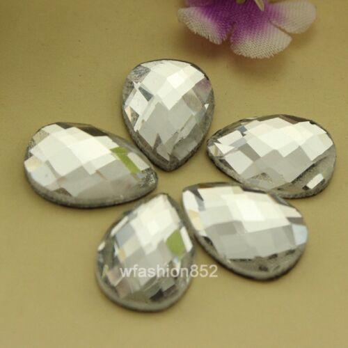 Triángulo cuadrado//claro DMC 72 un.//Corazón HOT FIX rhinestones en forma de cristal de hierro en