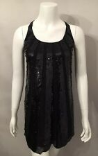 Stunning Juicy Couture Sequin Chiffon Shift Halter Tank Dress Sz P