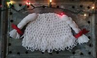 Cabbage Patch Kid Crochet Hat Wig Christmas White Infant Toddler Adult Cpk