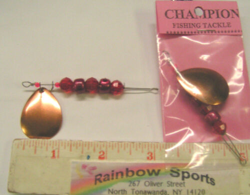 RS CHAMPION BUMBLE-BUG #4 COLORADO SINGLE BLADE DRIFTING SPINNER COPPER 2