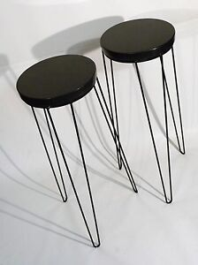 Image Is Loading PAIR MID CENTURY MODERN DISPLAY PLANT STAND HAIRPIN