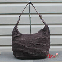 Women Woven Crochet Tote Shoulder Handbag Handmade Bohemian Hobo Trendy Fashion