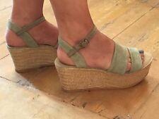 Woman Spanish Wedges shoes espadrilles size 37 / 4 UK