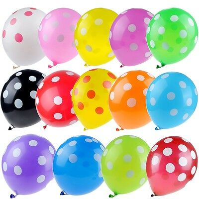 10, 30, 50 Optional Latex Polka Dot Balloons Party Wedding Holiday Decorating