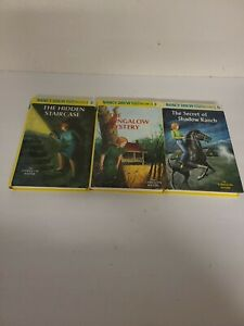 Lot-of-3-NANCY-DREW-FLASHLIGHT-EDITIONS-2-3-5-GLOSSY-HARDCOVER-VERY-GOOD