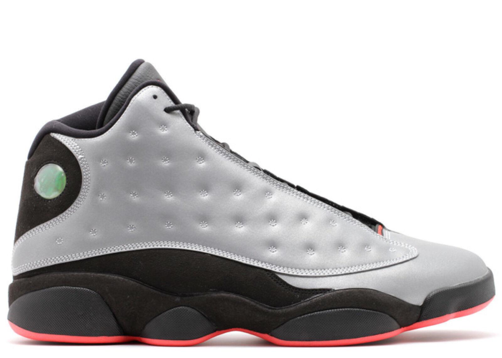 Mens Nike Air Jordan 13 Retro Prm - 696298 023 - Reflective Silver Black Train