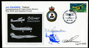 Canada-1981-Royal-Airforce-RCAF-034-Cobras-034-First-Day-Cover-FDC-Signed-by-Pilots