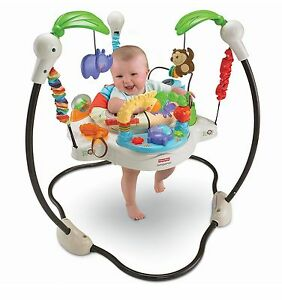9d40306838a4 Fisher Price Luv U Zoo Jumperoo Baby Jumper Walker Bouncer Activity ...