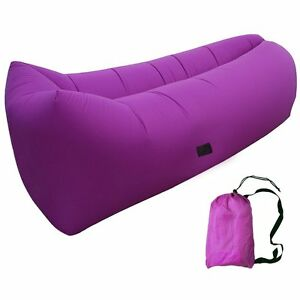 NEW Large Purple Inflatable Air Lounger Chair Portable ...