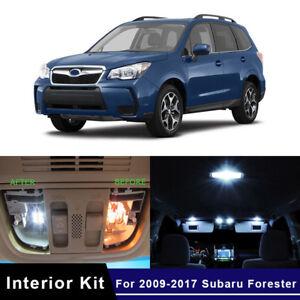 10x-White-LED-Car-Interior-Light-Bulbs-Package-Kit-For-2009-2017-Subaru-Forester