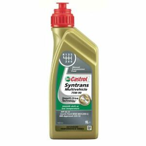 NEW-CASTROL-TRANSMISSION-OIL-SYNTRANS-MULTIVEHICLE-75W-90-1-LITRE-15AAC2