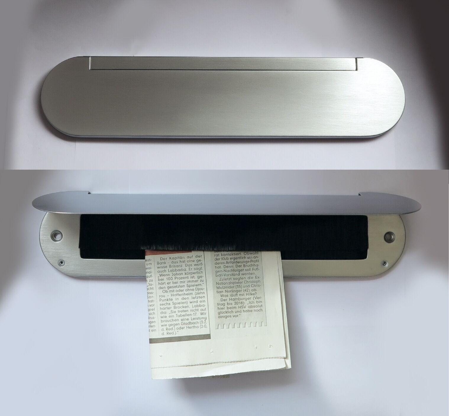 Innenklappe-brüniert-345x80 mm-Mit Bürste-Briefeinwurf-Briefklappe-Briefschlitz | Flagship-Store  | Rich-pünktliche Lieferung  | Neuheit  Neuheit  Neuheit  d9aab6