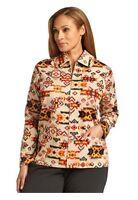 Breckenridge Women 1x, 2x Southwestern Painted Desert Light Zip Jacket Shirt $86
