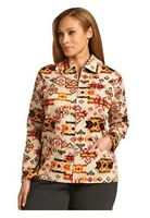 Breckenridge Women 1x, 2x Southwestern Painted Desert Light Zip Jacket Shirt $86