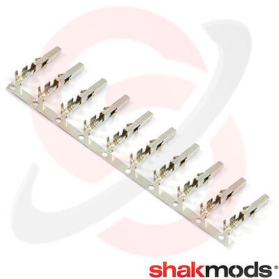 10 x Female ATX / EPS PCI-E Crimp Pins for PC Power Supply P4 P8 - BNIB Shakmods