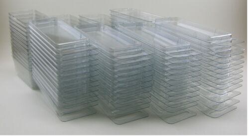 Brand new clamshell 50-3-inch Hanging Plastic Storage Cases Blister Boxes