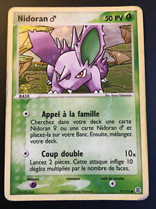 Carte-Pokemon-NIDORAN-71-112-Holo-Reverse-Bloc-EX-Francaise-NEUF