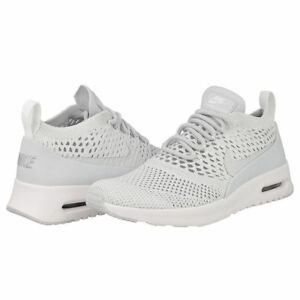 Details about Nike Air Max Thea Ultra FK Flyknit Women's Running Shoes WhiteGrey 881175 002