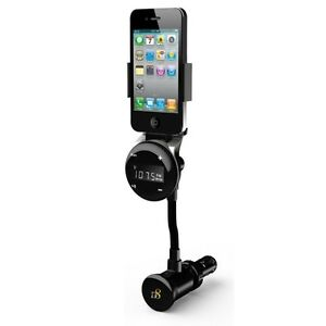 AUDIO-FM-RADIO-TRANSMITTER-CAR-MOUNT-CHARGING-HOLDER-USB-PORT-for-iPhone-iPod