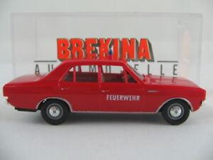 Brekina-20504-Opel-Rekord-C-Limousine-1966-034-bomberos-elw-034-1-87-h0-nuevo-en-el-embalaje