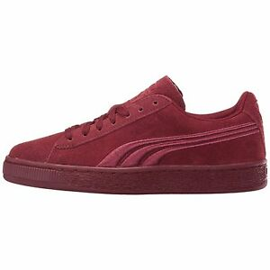 Puma GS Suede Badge 362951-06 Burgundy Big Kids youth Shoes  703bfaa7d