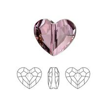 Swarovski Crystal Faceted Love Beads Heart 5741 Antique Pink  8mm Package of 24