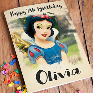 Image Is Loading SNOW WHITE Personalised Birthday Card FREE Shipping Disney
