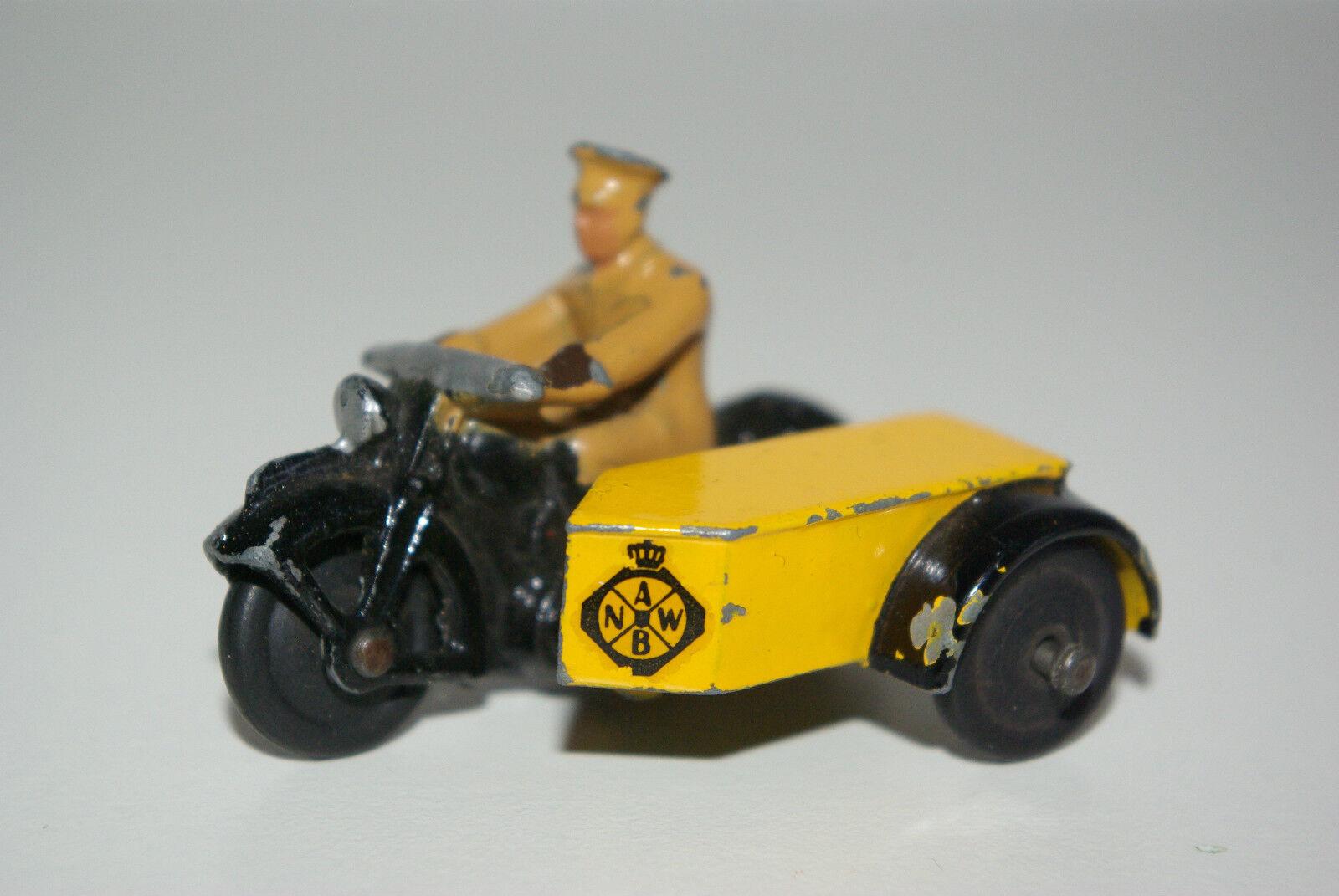 cómodamente Dinky Juguetes 44b 44b 44b 44 B motor cycle with sideCoche ANWB Dutch AA excellent Rare  en stock