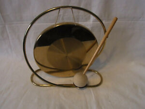 Mid-Century-60s-70s-Brass-Table-Gong-J