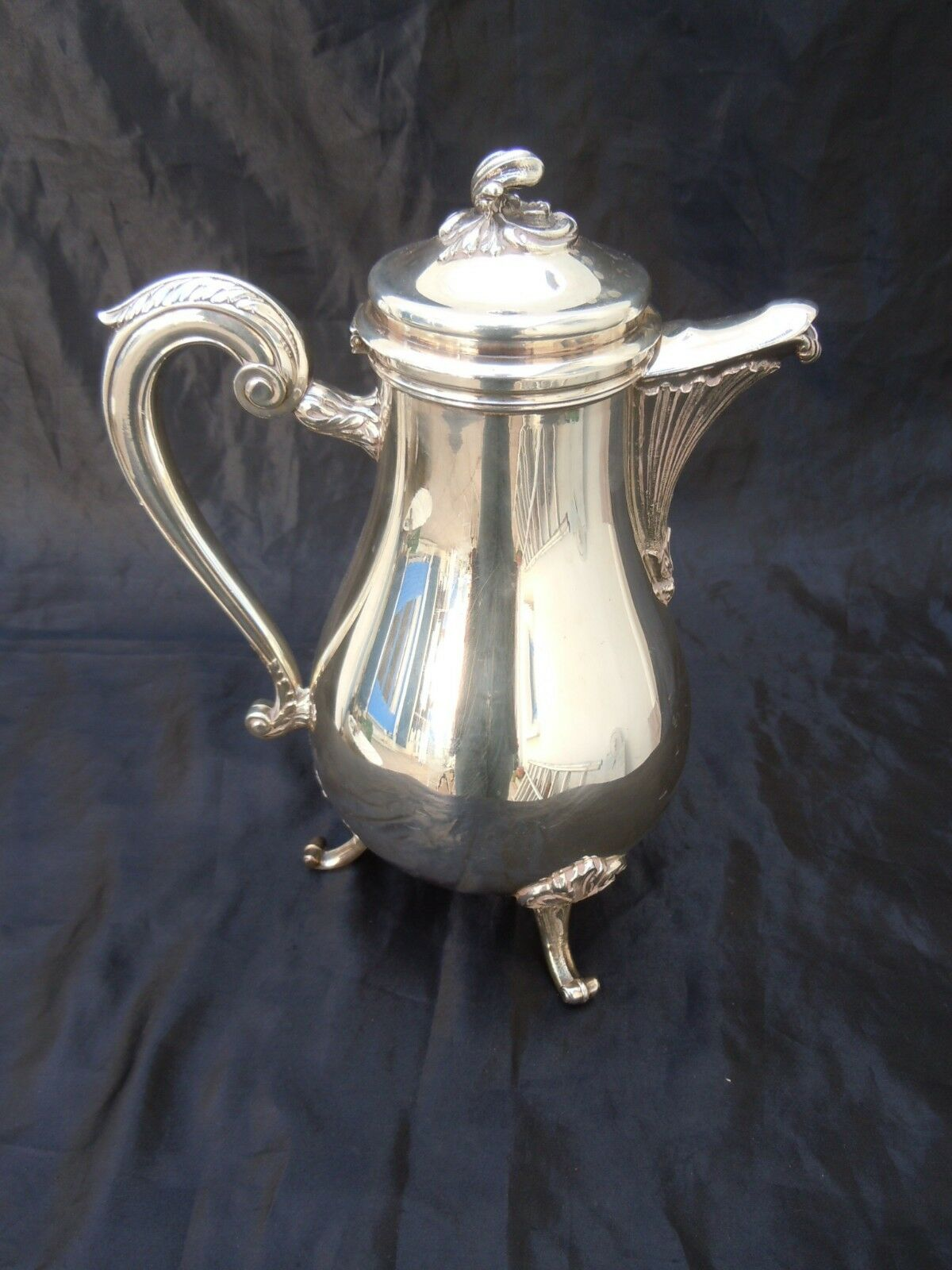 Verseuse cafetiere metal platae collection Gallia Christofle France mod Marly