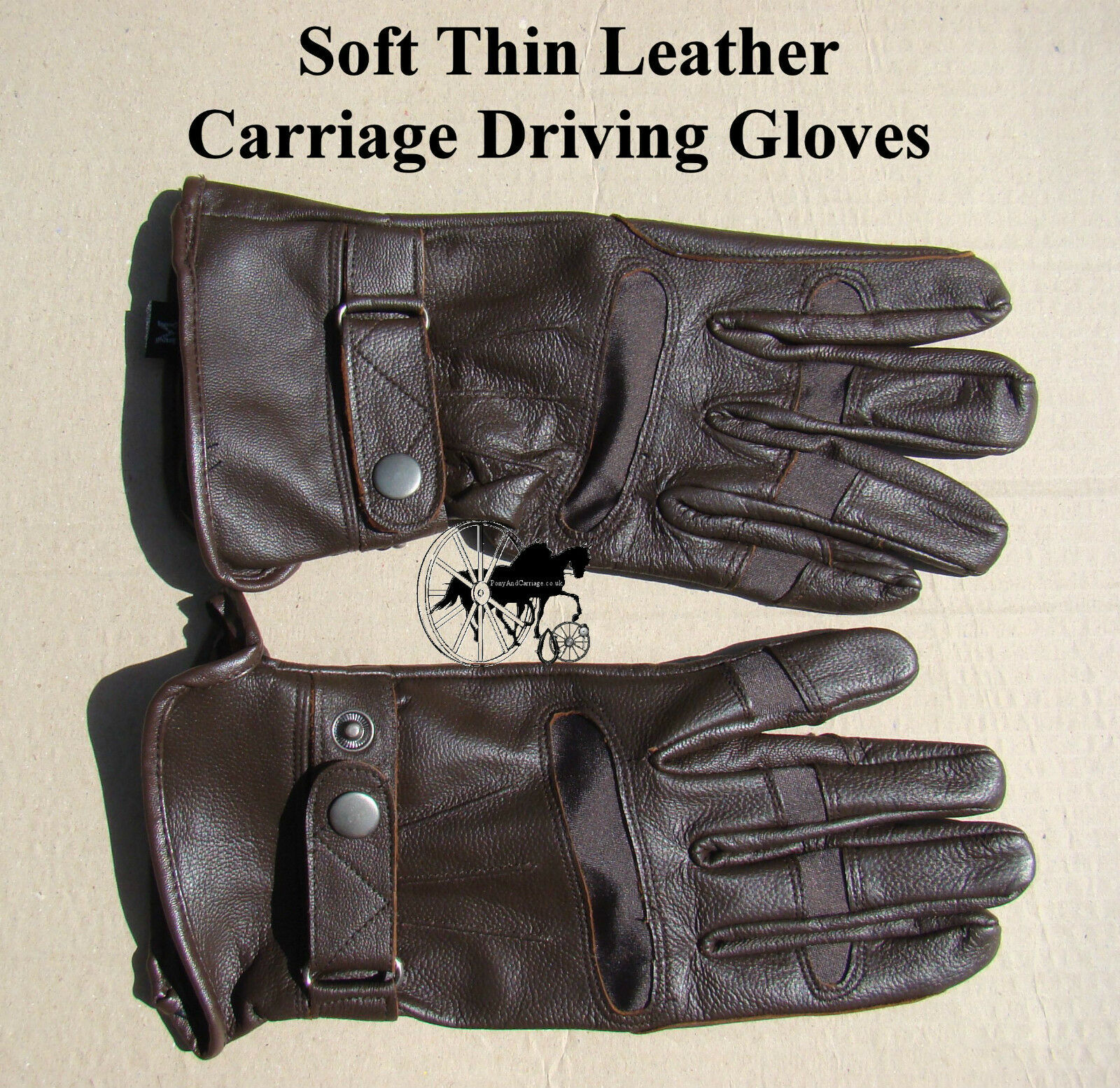 Carriage  Driving G s Soft Thin Leather Dark Brown Sizes Small up to XL  free shipping & exchanges.