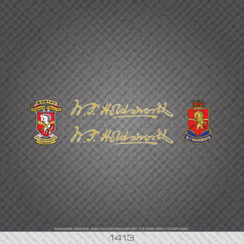 01413 Holdsworth Bicycle Stickers - Decals - Transfers - Gold/White