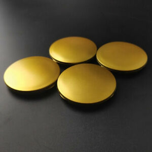 4x-63mm-No-Logo-Gold-Felgendeckel-Nabendeckel-fuer-M595-OZ-Racing-Superturismo