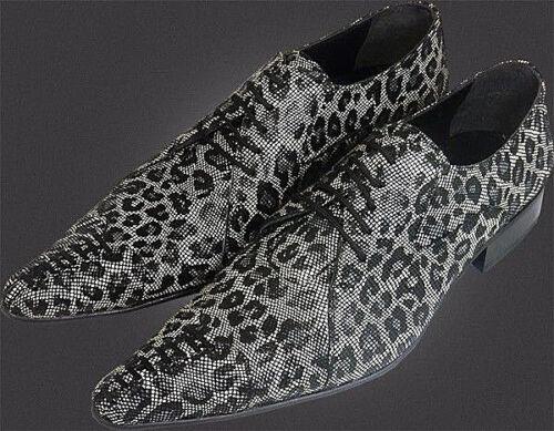 Chelsy pelle cavallino in effetto di modello da scamosciata Leopard di vitello 40 uomo pelle Scarpe originale 8xw6AqSf