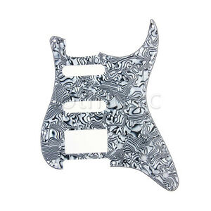 1-HSS-3-Ply-Electric-Guitar-Black-White-Pickguard-for-Fender-Strat-Stratocaster