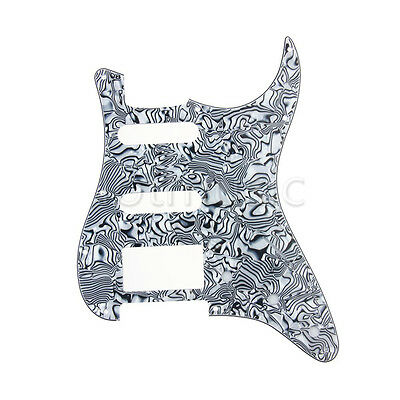 Guitar Pickguard Scratch Plate for Strat Replacement Black White Shell 3 Ply HSS
